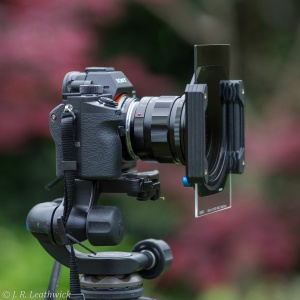 The finished product - Ultron 21mm with a Benro filter holder and graduated neutral density filter